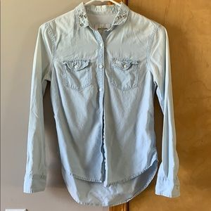 Jean dress shirt